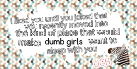 dumb girls guy
